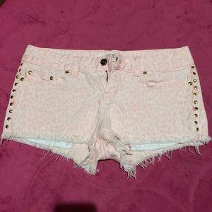 Victoria's Secret PINK jean cheetah shorts